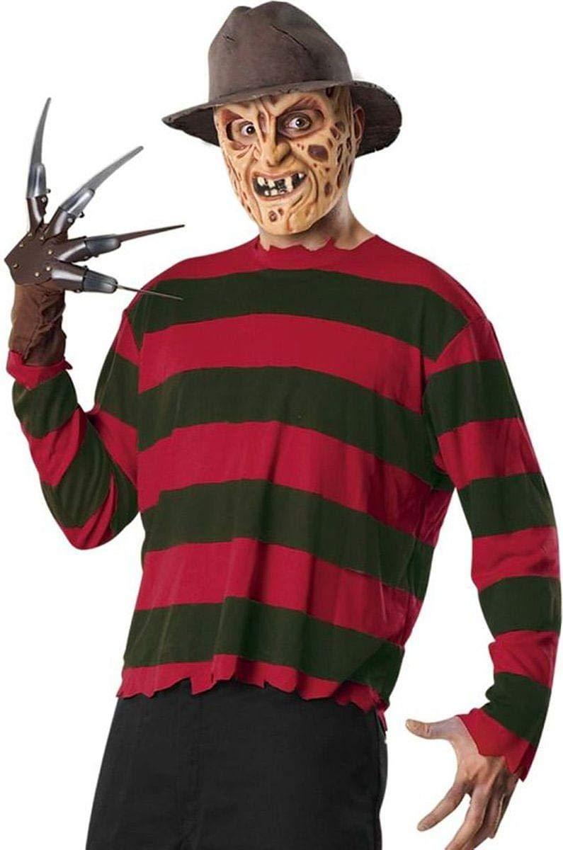 Costume Freddy Krueger Nightmare - colore - Rosso, Taglia - Taglia Unica