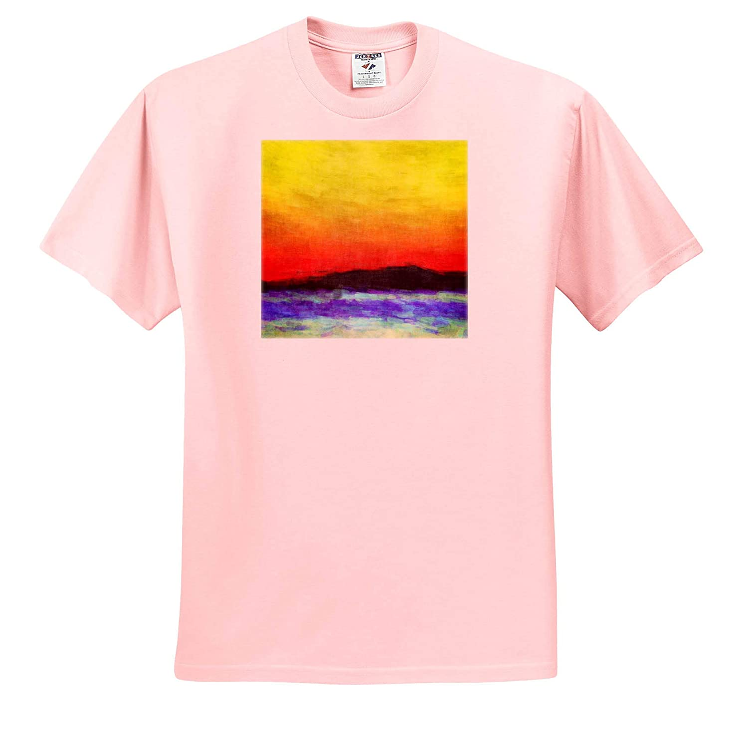 Contemporary Abstract Impressionist Digital Painting go Colorful Ocean Nature 3dRose Perkins Designs T-Shirts