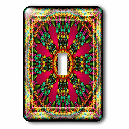 Harmony Switchplate - 3dRose LLC lsp_24845_1 Mandala 11 Purple Glowing Energy Power Meditation India Orient Peace Harmony Chakra New age Single Toggle Switch