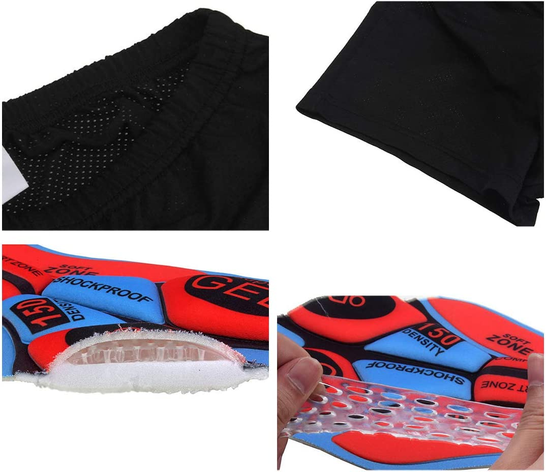 X-Labor Unisex 3D Fahrradhose Gel Sitzpolster Atmungsaktiv Gepolstert Radhose Radlerhose M/änner Fahrrad Unterhose Mountainbike Kurz Shorts