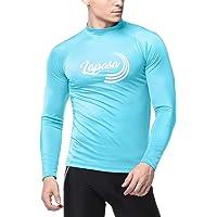 LAPASA Men's Rash Guard Shirt UV Sun Protection SPF +50 Skin Care Long Sleeve Swimsuit M43