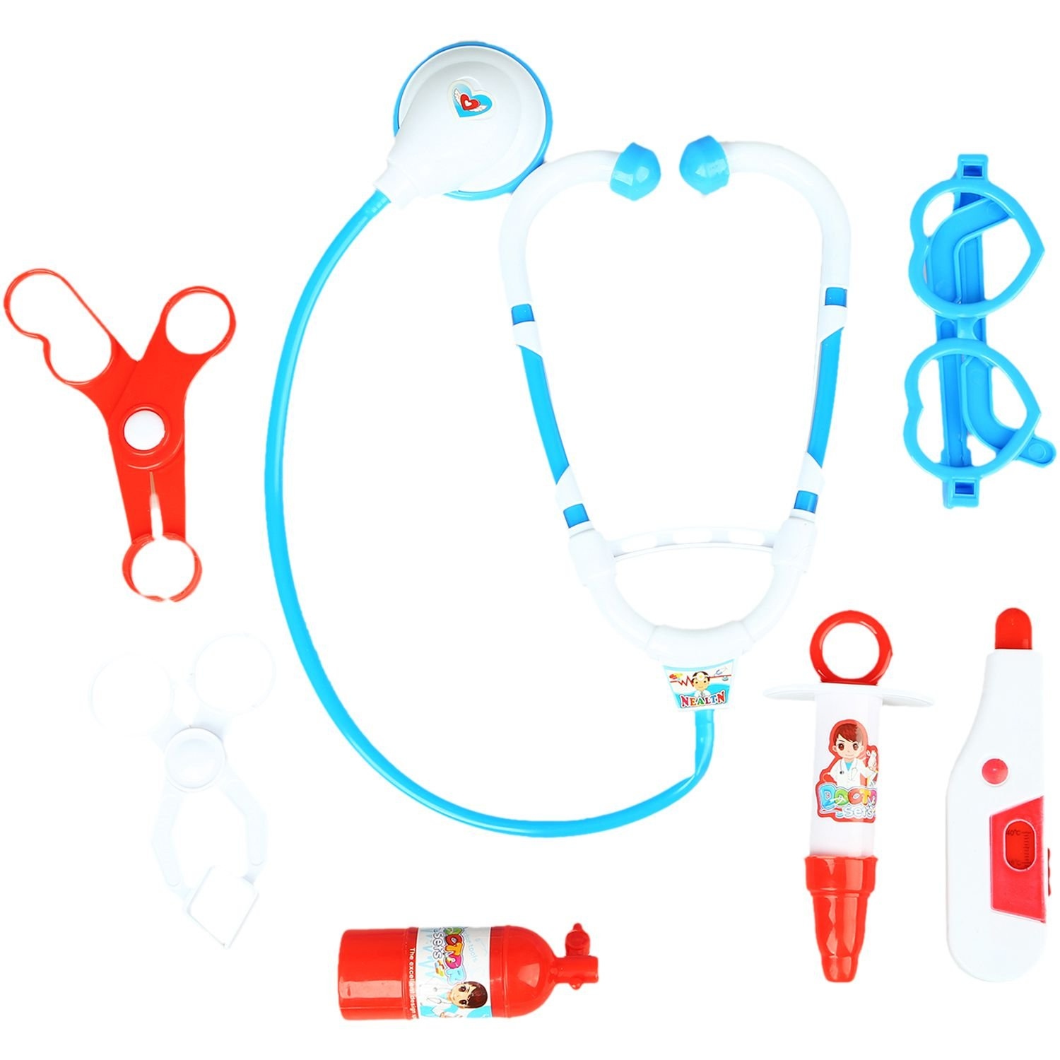 WOVELOT Kids Educational Pretend Doctor Nurse Role Play Medical Kit Roleplay Toy Set Blue