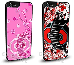 Ohio State Buckeyes Cell Phone Hard Plastic Case TWO PACK for iPhone 6 Plus (5.5 inch)