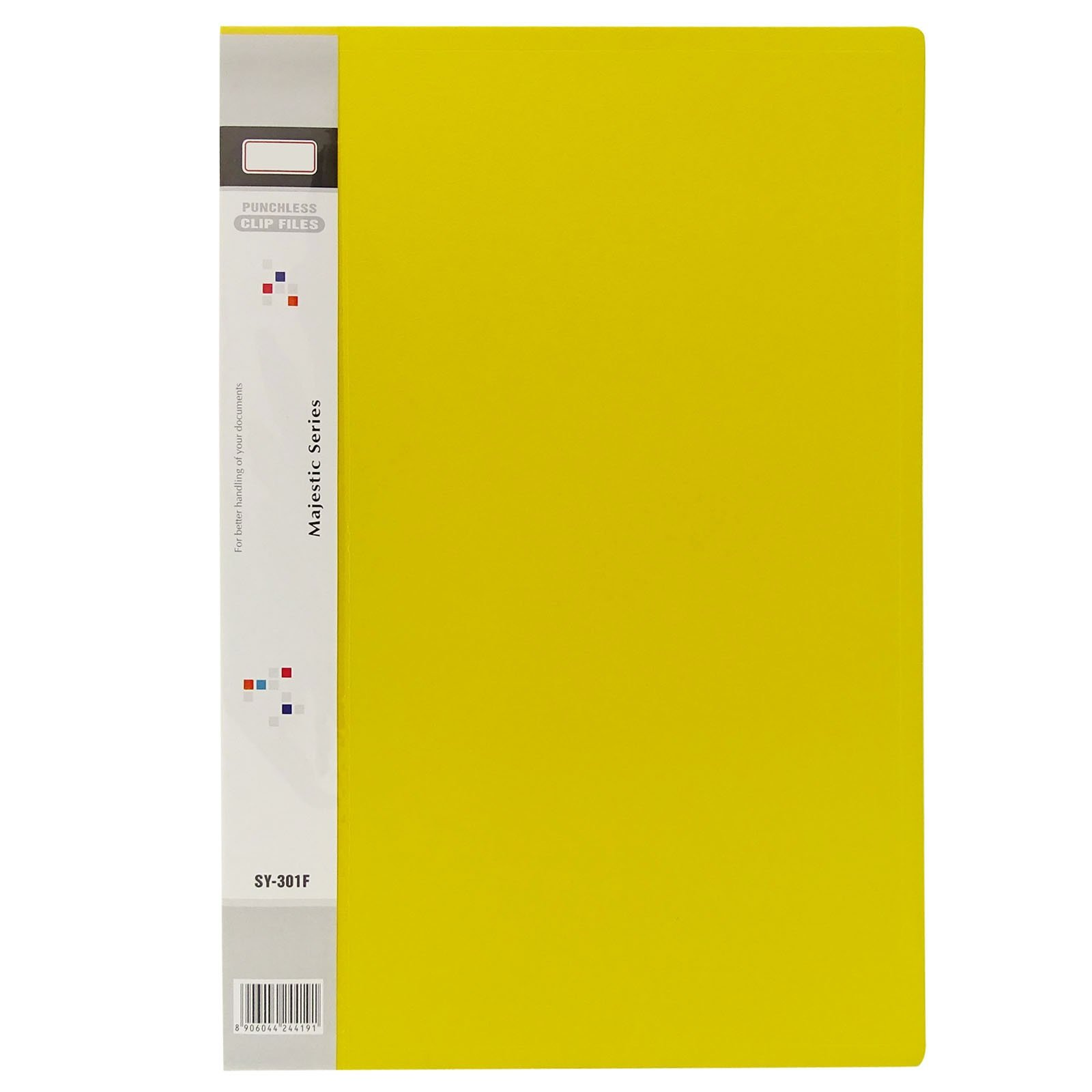 Yellow Report File Clamp Folder Foolscap A4 Size Document Filing Office Supplies Pack of 25 Pcs
