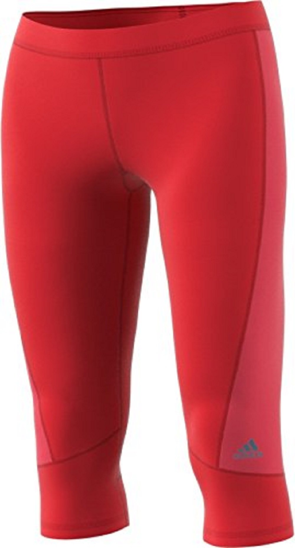 adidas Women's Techfit Capris, Core Red/Core Pink, X-Small by adidas (Image #1)