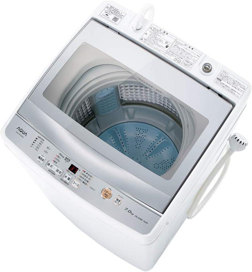 アクア 7.0kg 全自動洗濯機 ホワイトAQUA AQW-GP70H-W