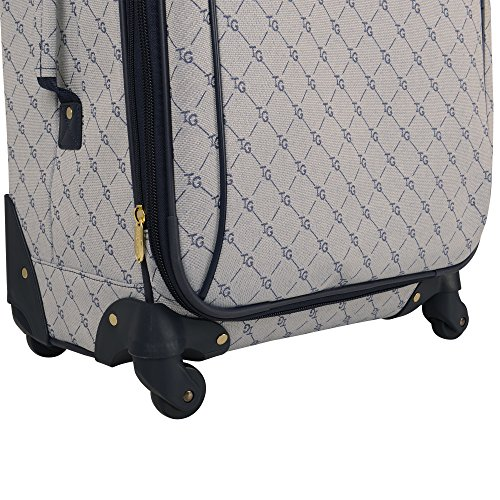 Travel Gear Signature 4 Piece Expandable Spinner Luggage Set (28In/24In/20In/26In), White/Peacoat by Travel Gear (Image #4)'