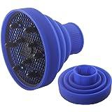 Universal Hair Dryer Diffuser-retractable Portable Silicone Folding Diffuser-black