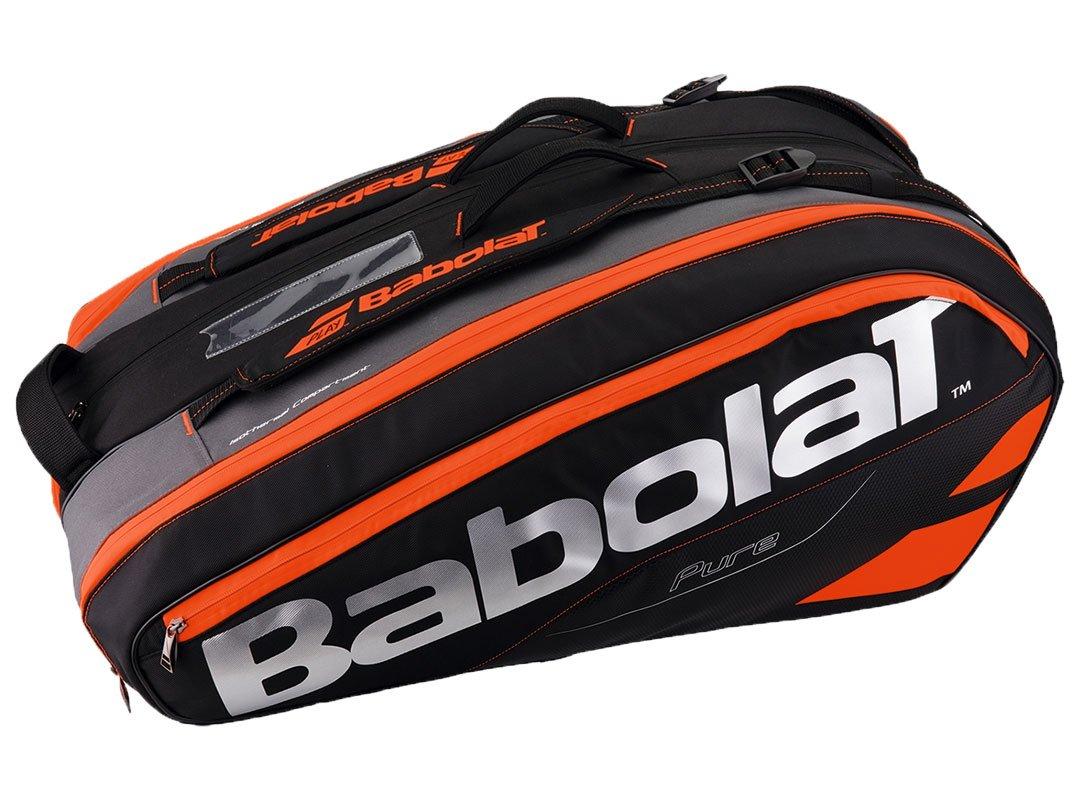 Babolat(バボラ) テニス バドミントン ラケットバッグ ピュアライン 12本収納可 BB751133 B06X93FZBC BK/FRD BK/FRD