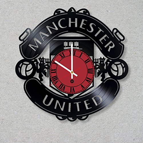 Vinyl Record Wall Clock Football Champions Manchester United decor unique gift ideas for friends him her boys girls World Art Design