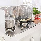2Pcs Oil Splash Guard Aluminum Foil Gas Stove Shield Oil Splatter Screen Board Cooking Frying Oil