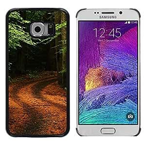 Exotic-Star ( Nature Forrest Trail ) Fundas Cover Cubre Hard Case Cover para Samsung Galaxy S6 EDGE / SM-G925 / SM-G925A / SM-G925T / SM-G925F / SM-G925I