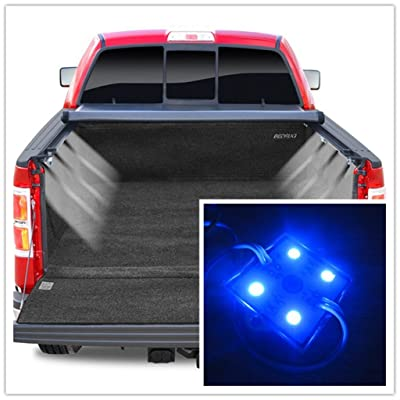 Colorful-USA 8pc Pick-Up Truck Bed/Rear Work Box - 32 Blue LED Lighting System Light Kit ¡­: Automotive