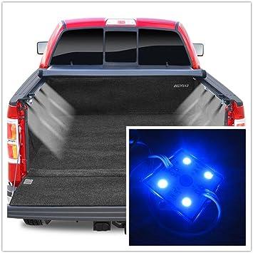 32 Blue LED Lighting System Light Kit Rear Work Box 8pc Pick-Up Truck Bed