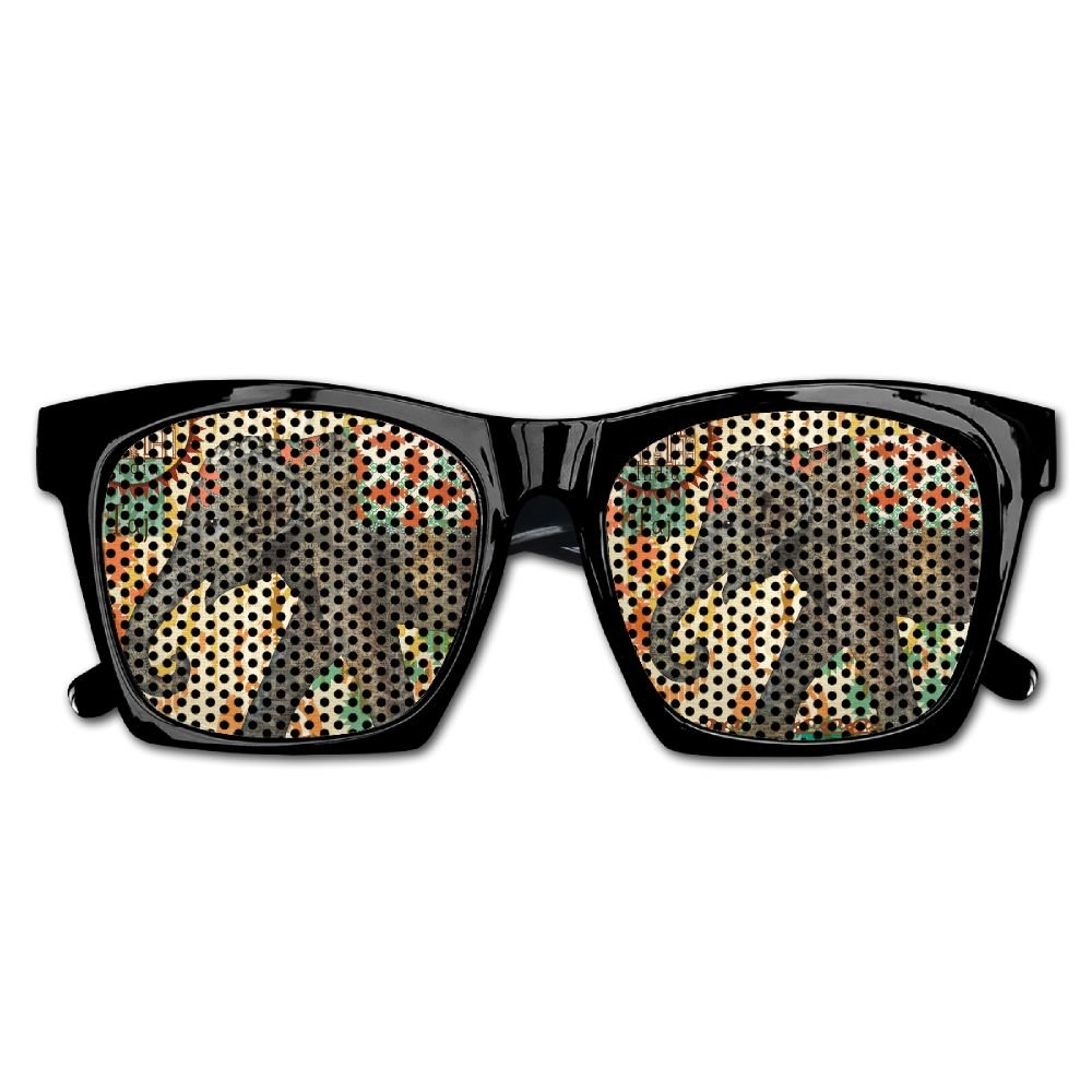 Elephant AN Themed Novelty India Elephant Newspaper Creative Visual Mesh Sunglasses Fun Props Party Favors Gift Unisex