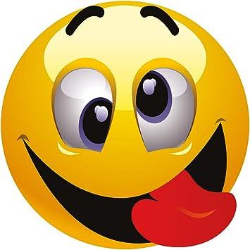 Smiley Fun Aufkleber Motiv 2 20 Cm Selbstklebend Glänzend Für Auto Motorrad Fahrrad Boot Oder Caravan Auto