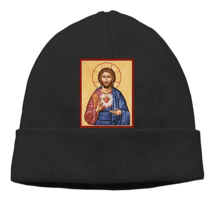 FORDSAN CP The Sacred Heart Mens Beanie Cap Skull Cap Winter Warm Knitting Hats.