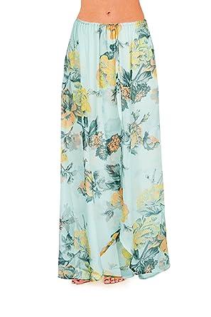 Para mujer abierto diseño de rosas para faldas de playa ...