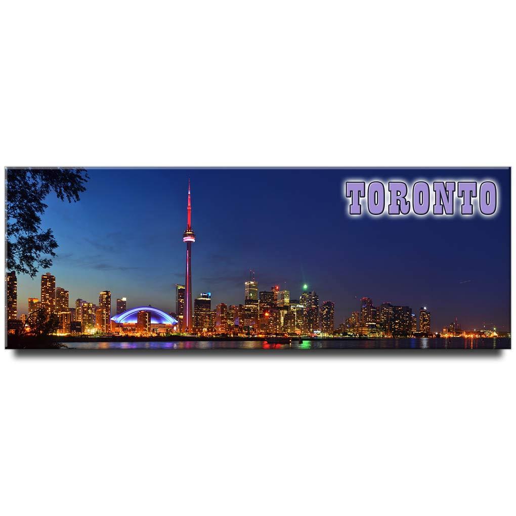 Toronto panoramic fridge magnet Ontario travel souvenir Canada