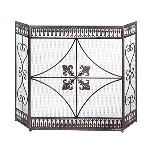 Accent Plus Decorative Fireplace Screens, French Antique Iron Screen For Fireplace by Accent Plus