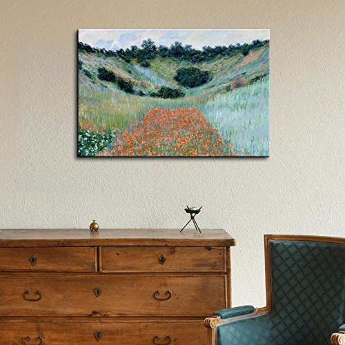 Claude Monet Poppy Field in a Hollow Near Giverny Impressionist Art