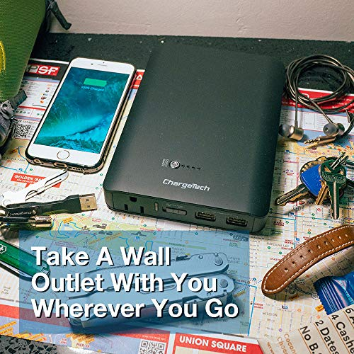 Portable Ac Outlet Battery Pack By Chargetech 27000mah