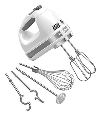 Kitchenaid Khm926wh 9 Speed Digital Hand Mixer With Turbo Beater Ii Accessories And Pro Whisk White