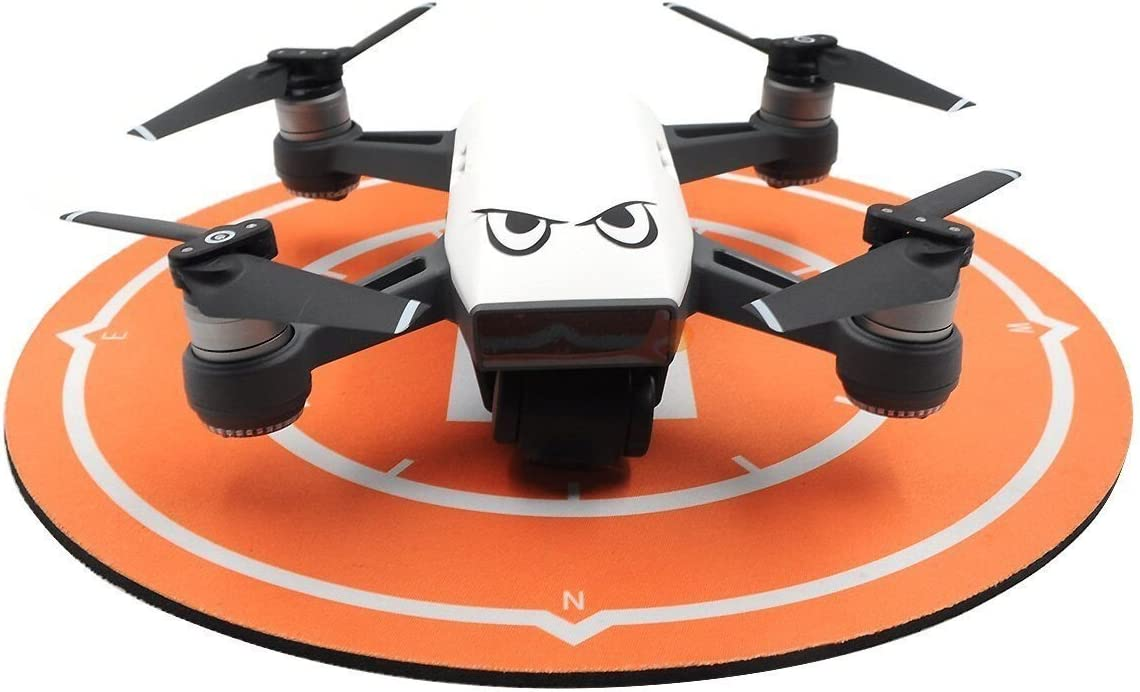 Rantow Waterproof Practice Landing Pad Parking Apron for DJI Spark Drone, Folding Portable Rubber Landing Mat for SYMA X5SW and Other Small Racing Drones