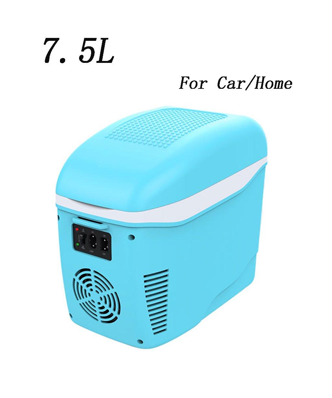 LIQICAI Elektrische Kühlbox Kühlschrank Kühler Elektrische Kühlbox Kühlung Mini Kühlschrank Kühlbox Warm Cool 12V DC 220V AC (Farbe   Blau) 7c5c1a
