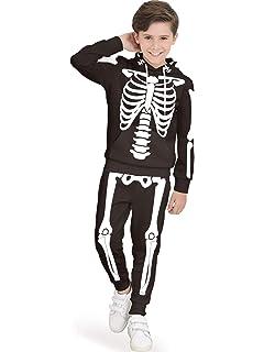 Amazon.com: Disfraz de esqueleto de Halloween para niños y ...