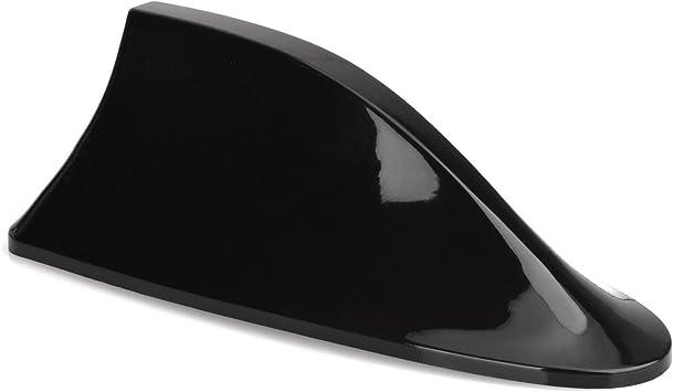 Antena universal para coche Lumiereholic Antena Aleta de tiburón Shark plástico duro AM/FM universal brillante negro Antena universal car Antenna With ...