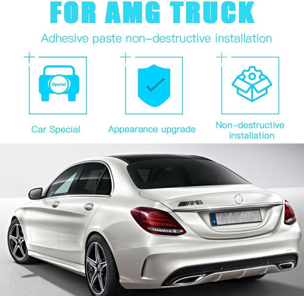 KENPENRI Rear AMG Emblems Compatible for Mercede-Benz 2017-2020,3D Decal Nameplate Car Decal Logo Badge Sticker Gloss Black