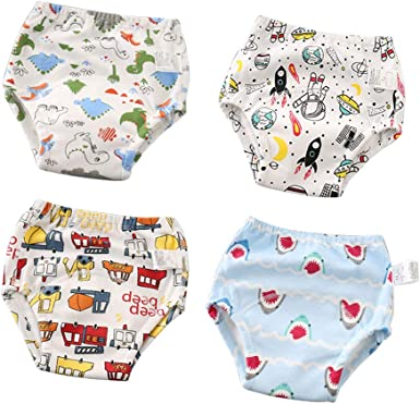 Cotton Absorbent Potty Training Pants Toddler Training Underwear for Baby Girl and Boy 12M-4T 2020 Updated