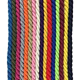 Natural Twisted Cotton Rope Durable Long Rope Diameter 1/3'',3/8''and 4/5'' Super Soft Cotton Rope for Decor, Pet Toys, DIY Crafts and Indoor &Outdoor Use(Khaki,8mm-300ft)