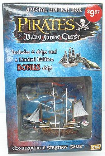 Pirates of Davy Jones Curse Constructible Strategy Game Special Edition Box with HMS Richards Bonus Ship
