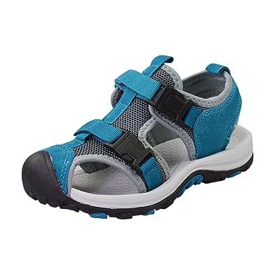 1720bb99a05 LA PLAGE Kids Boys Girls Beach Water Athletic Slide Sandals Slip-on  Anti-Slip