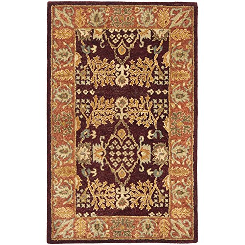 Safavieh Bergama Collection BRG190C Handmade Red and Rust Premium Wool Area Rug (3' x 5') 5 Bergama Rectangle Rug