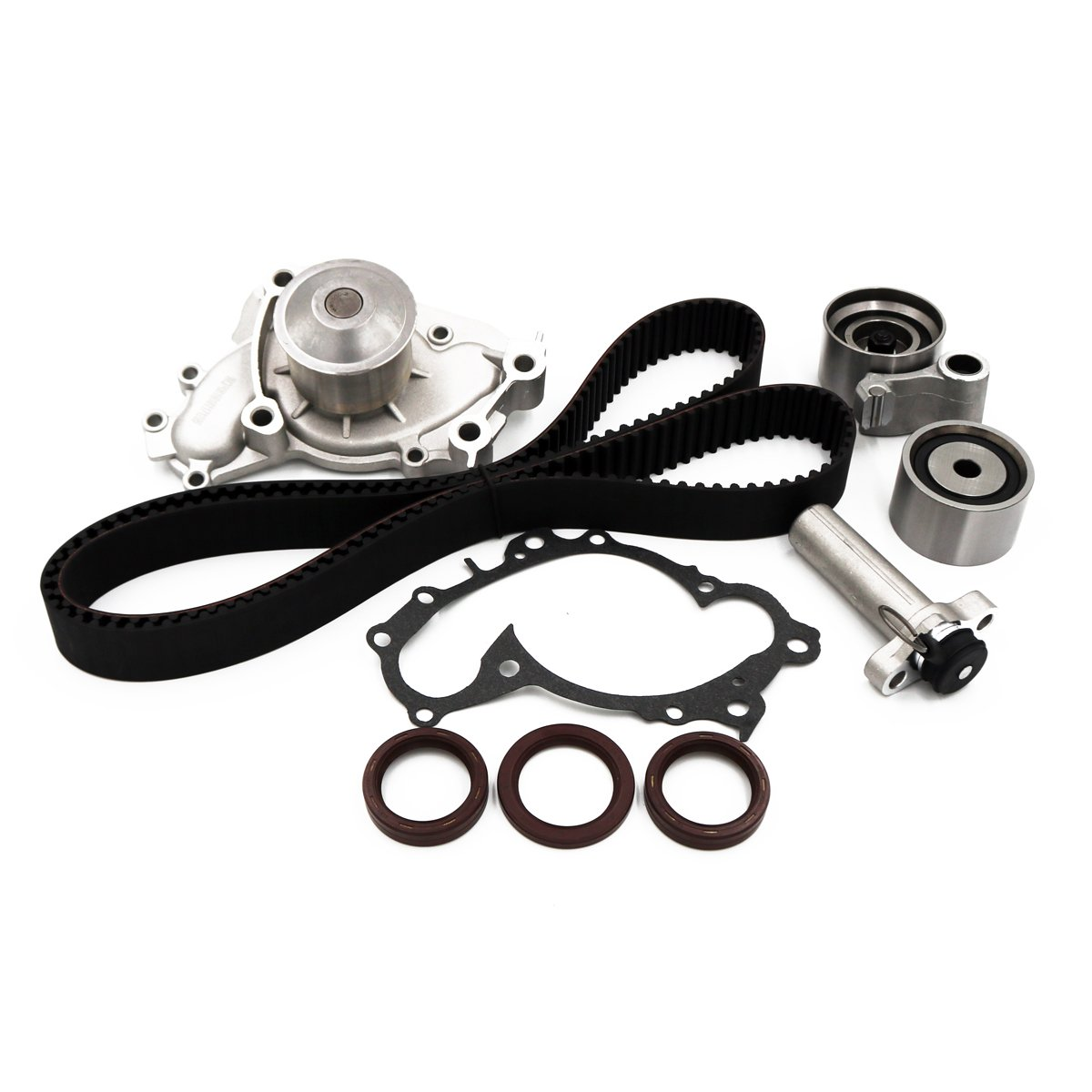 WQ Fits 1994-2004 Toyota Camry Avalon Sienna Solara Lexus ES300 RX300 3.0L V6 DOHC 24 Valve 1MZFE Engine Timing Belt Water Pump Kit JH AUTO PARTS TBK257 WP2033 TS26257 ITM257
