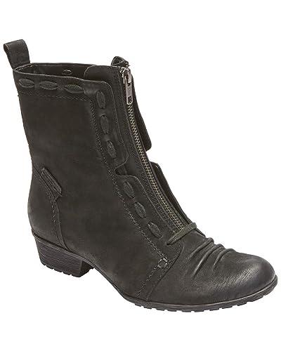 7c5ac5c6c Rockport Cobb Hill Collection Women s Cobb Hill Gratasha Zip Boot Black  Nubuck 6 ...