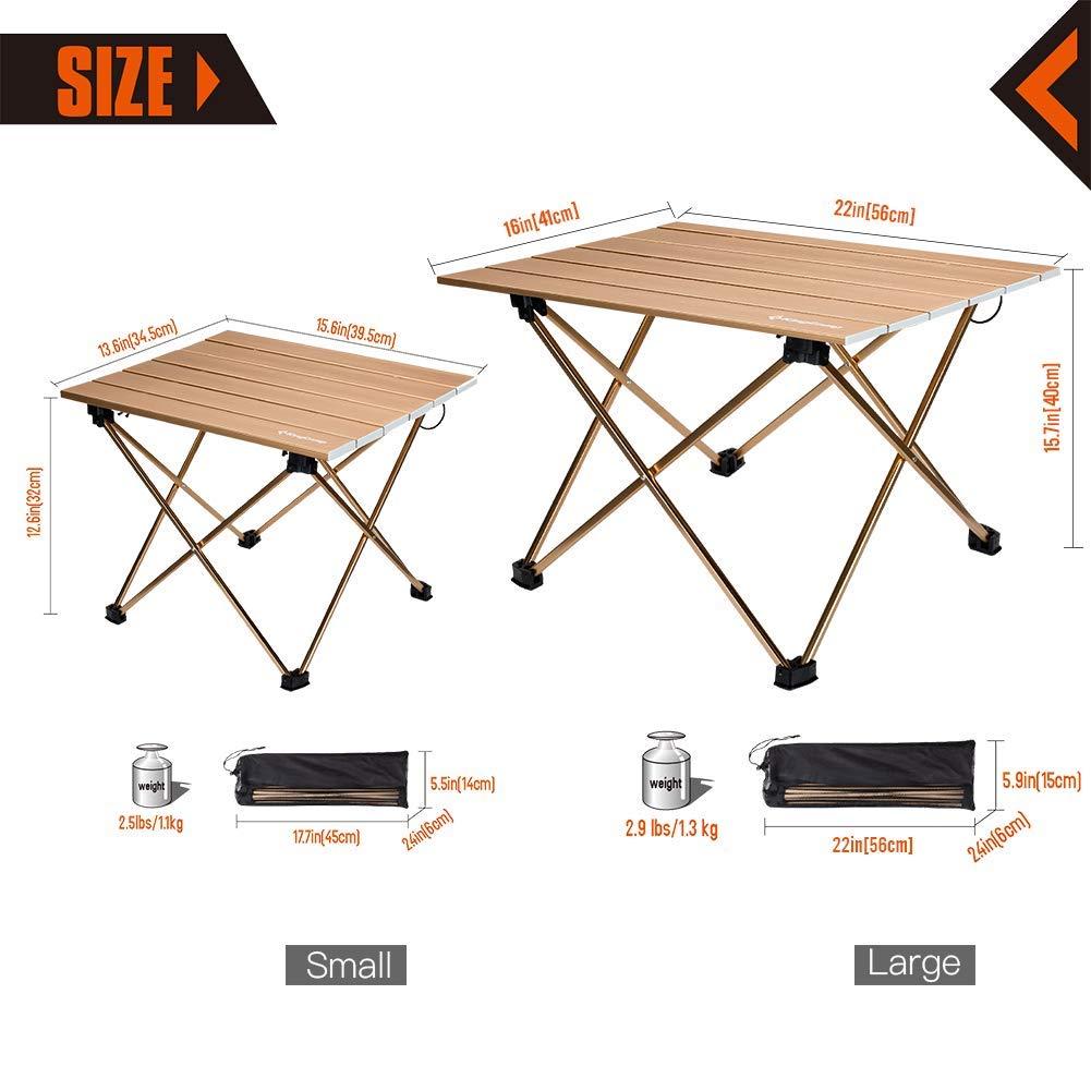 Arrotolabile Kingcamp Pieghevole Tavolo In Ultraleggero Alluminio Pn0w8Ok