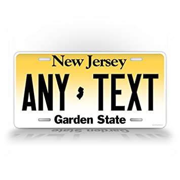 Custom New Jersey License Plate Any Text Personalized NJ Metal Auto ...