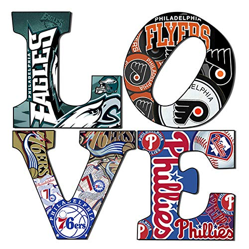 Collectible Art Gallery Philadelphia Sports Love Teams 5 (12x12)