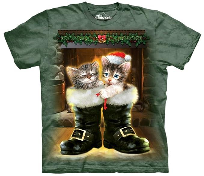 Los gatos jóvenes y botas de montaña 100% algodón camiseta: Amazon.es: Ropa y accesorios