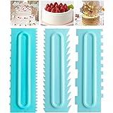 Plastic Sawtooth Cake Scraper set, Decorating Comb & Icing Smoother Tool Scraper, DIY Icing Decorating Spatula…