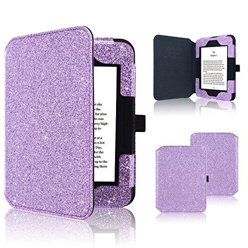 Nook GlowLight 3 Case, ACdream Folio Premium Leather Ereader Cover Case for Barnes & Noble Nook GlowLight 3 (2017 Release), (Purple Star of Paris)