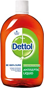 Dettol Antiseptic Disinfectant Liquid 33.8 Ounce (1000 ml) Germ Protection Disinfectant For First Aid, Home and Personal Hygiene