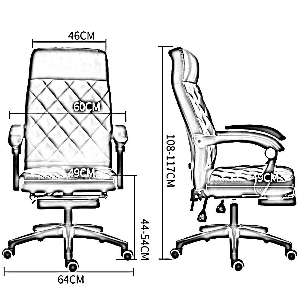 Bseack uppgift svängbar verkställande datorstol med fotstöd ergonomiskt högt ryggstöd kontor dator stol vilande kontor skrivbordsstol med ländrygg stöd Svart Rosa