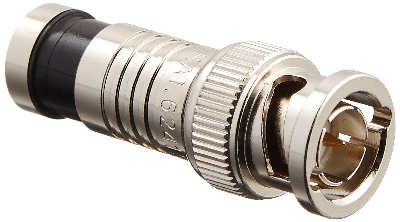 Platinum Tools 18038    BNC RG6 Compression, Nickel Plated, 25-Pack