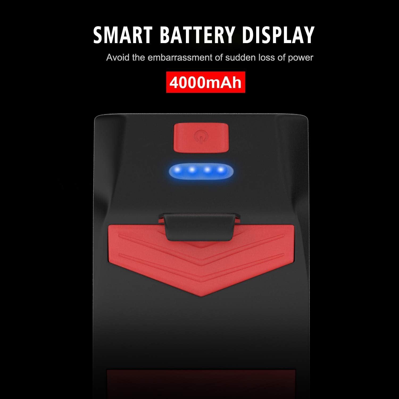 4 en 1 support de t/él/éphone portable de phare de v/élo 4000mAh banque dalimentation USB phares de support de t/él/éphone portable de moto avec 5 effets sonores de haut-parleur avec 3 modes d/éclairage