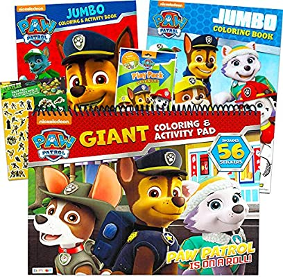 - Amazon.com: Paw Patrol Coloring And Activity Book Set (3 Coloring Books  Bundle) With Bonus Stickers: Toys & Games